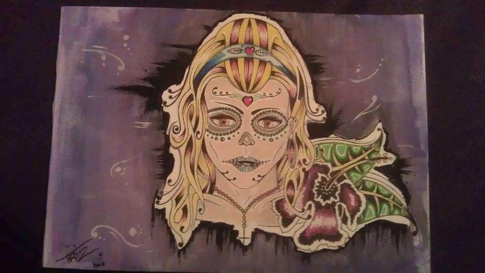 Dia de los muertos artwork by Suikervrij Design